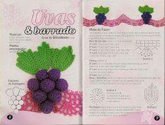 Bicos em crochê Frutas