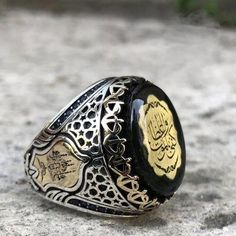 """"""""""" Amber gemstone with calligraphy sterling silver mens ring """""""" Amber gemstone with calligraphy sterling silver mens ring – Grandbazaar Silver """""""" Amber Gemstone, Gemstone Rings, Hot Men, Mens Ring Designs, Sterling Silver Mens Rings, Louis Vuitton, Coin Ring, Rings For Men, Mens Fashion"""