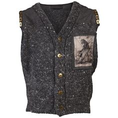 Designer Clothes, Shoes & Bags for Women Cardigans, Sweaters, Monkey, Vest, Wool, Grey, Children, Aud, Polyvore