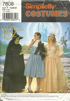 Simplicity 7808 - Wizard of Oz costumes. Used for Dorothy, obv