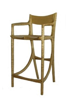 Bar Stool In Birds Eye Maple   Once A Tree Woodworks   High Quality Rocking  Chairs