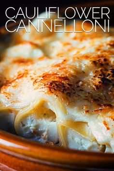 This baked cauliflower cannelloni is a perfect winter warmer a beautiful cauliflower and ricotta cheese puree baked to perfection with a bechamel sauce. Pasta Dinner Recipes, Best Vegetarian Recipes, Healthy Pasta Recipes, Cooking Recipes, Savoury Recipes, Vegetable Recipes, Baked Cauliflower, Cauliflower Recipes, Classic Italian Dishes