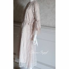 Image may contain: one or more people and text Hijab Dress Party, Kebaya, Modest Fashion, Wedding Engagement, Bridesmaids, Cover Up, Tunic, Wedding Ideas, Beige