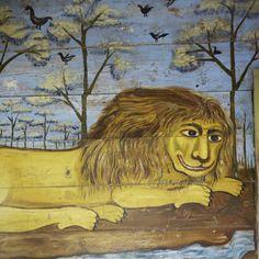 """Саратовская область, деревня Поповка - """"Дом со львом"""". Стенные росписи датируются 1910-ми годами"""