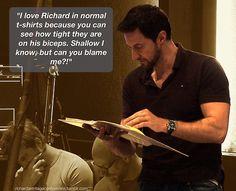 No, I agree wholeheartedly!  I LOVE biceps...especially his!