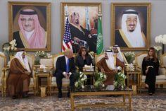 Trump in Saudi Arabia: Saudi Arabia's King Salman bin Abdulaziz Al Saud meets with President Trump during a reception ceremony in Riyadh, May Air Force One, First Lady Melania Trump, Good And Evil, Riyadh, Saudi Arabia, Arabia Saudí, Donald Trump, Past, Presidents