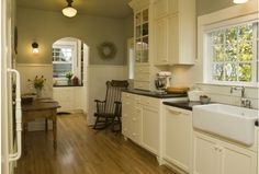 yes, a kitchen with a farm sink and a rocking chair would be PERFECTION