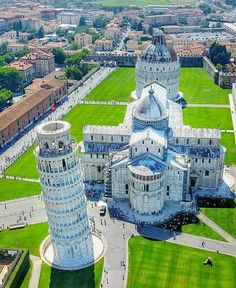 Cathedral, tower and  Baptistry of Pisa.