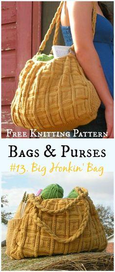 Big Honkin' Bag Free Knitting Pattern - #Bags & Purses Free #Knitting Patterns