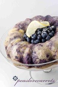 Blueberry Lemon Bundt Cake...yellow cake mix and greek yogurt