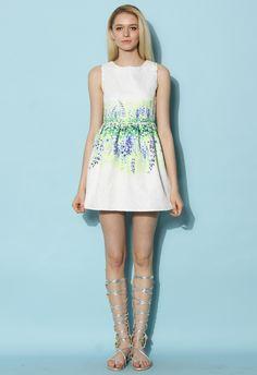 Lavender Reflection Jacquard Dress - Dress - Retro, Indie and Unique Fashion