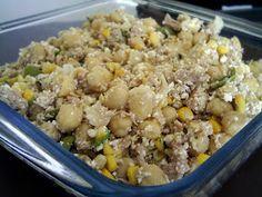 Pitadinha: Salada leve de grão de bico