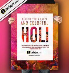Premium Happy Holi Emailer PSD Happy Holi Quotes, Happy Holi Images, Holi Festival Of Colours, Holi Colors, Holi Drawing, Ze Roberto, Holi Poster, Holi Greetings, Brochure Folds