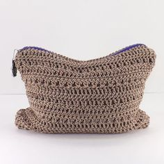Crochet Make-Up Bag, Crochet Cosmetic Case, Zippered Make-Up Pouch, Crochet Clutch, Fashion Cosmetic Bag 2014