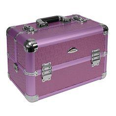 Beauty Case 20 Liter Schmuckkoffer Kosmetikkoffer Koffer 15 F�cher - violett