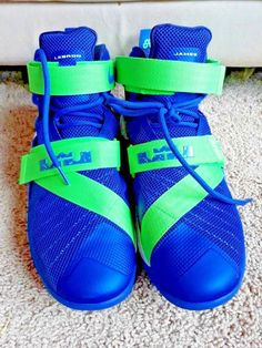 0aa109d0a806 Nike ZOOM Lebron Soldier IX EP 749417-441 Basketball Sprite Gym White NEON  Green  Nike  Athletic