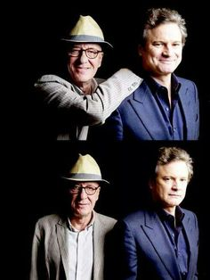 Colin Firth and Geffory Rush