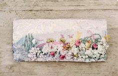 Made By Hand Online - Meadow Brooch by Emily Notman for madebyhandonline. Textile Fiber Art, Textile Artists, Fabric Brooch, Creative Textiles, Hand Embroidery Art, Crazy Patchwork, Little Stitch, Fabric Art, Hand Stitching