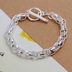 Srebrna bransoletka 925 - studs - Bransoletki i opaski na rękę
