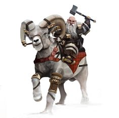 Mounted Dwarf - For fun, Terry CANTAL on ArtStation at https://www.artstation.com/artwork/xmX6r