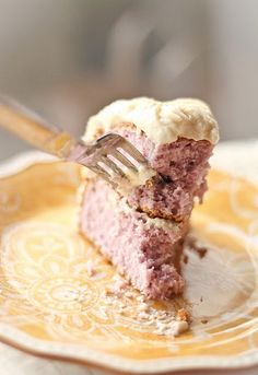 Taro Cake with Cream Cheese Frosting