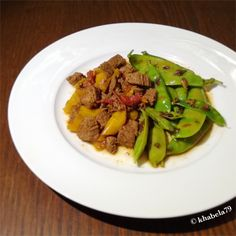 Dinner - Not Your Caveman's Chili and Bacon Infused Sugar Snap Peas