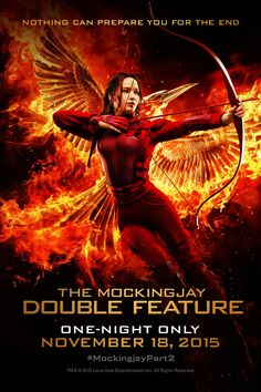 TONIGHT ONLY! The Mockingjay Double Feature is now playing at Regal Cinemas. http://regmovi.es/1kyxiEQ #HungerGames #Mockingjay