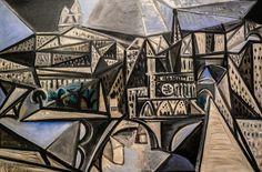 Pablo Picasso - Ile de la Cite - View of Notre-Dame de Paris, 1945 at Museum Ludwig Cologne Germany Kunst Picasso, Art Picasso, Picasso Drawing, Mougins France, Matisse, Monet, Museum Ludwig, Cubist Paintings, Cubist Movement