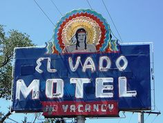 Albuquerque, New Mexico - stayed here in 1993 - one of the original neon motels along Route 66.