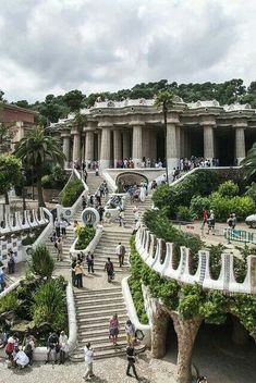 Park Guell, Barcelona. Designed by Gaudi.