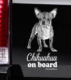 Samolepka na auto CHIHUAHUA – ČIVAVA. http://www.shopfido.cz/produkt/samolepka-na-auto-chihuahua-civava/