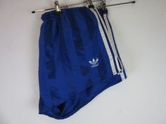 Adidas Originals Vintage Running Football 80 s Ibiza Shorts Two Tone Blue D7 GBL