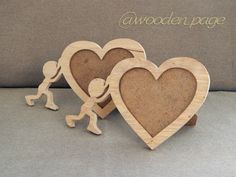 Diy Photo Frame Cardboard, Cool Picture Frames, Wood Crafts, Diy And Crafts, Laser Art, Wedding Plates, Scroll Saw Patterns, Easy Watercolor, Wood Art