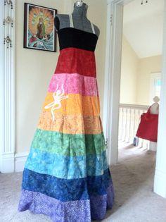 SALE Custom Rainbow Patchwork Festival Dress by Jellyphish on Etsy, $75.00
