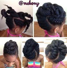 Simeko of Meko New York Natural Hair Care Spa shared this cute kiddie style.