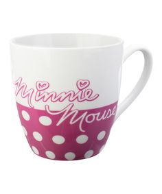 Take a look at this Pink Polka Dot Minnie Mouse Mug by Zak Designs on #zulily today!