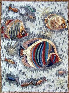 AN088 Marble Mosaic Fish Decorative Stone Tile