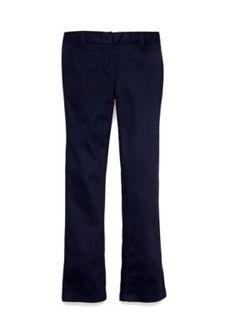 IZOD  Uniform Skinny Boot Pants Girls 4-6x