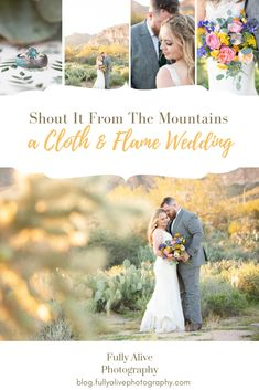 Shout It From The Mountains. A Cloth and Flame Arizona Wedding Arizona Wedding, Photojournalism, Groom, Wedding Photography, Bride, Mountains, Wedding Dresses, Blog, Wedding Bride