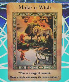 ~Make a Wish card from Magical Mermaids and Dolphins Oracle Cards by Doreen Virtue~