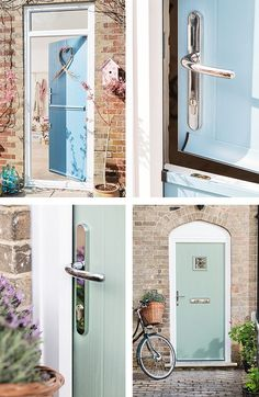 Open up your home in style with a beautiful new front door. To find your perfect door, book a free in-home appointment with us today. Cottage Door, Interior Design Work, Front Door Colors, Shabby Chic Bedrooms, New House Plans, Hallway Decorating, House Front, Door Design, Doorway Ideas
