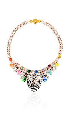 Shourouk Mini Theresa Sequin Necklace In Montana | Moda Operandi