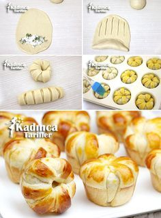 I think this is spinach and ricotta Cheese Recipes, Cooking Recipes, Bread Recipes, Bread Shaping, Bread Art, Best Party Food, Pastry And Bakery, Pizza Pastry, Savoury Baking