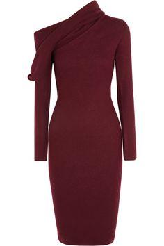 draped dresses | Haider Ackermann Draped fleece-wool dress