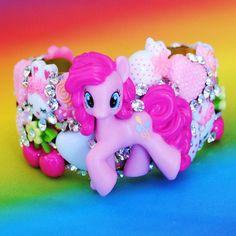 More Pony deco! I actually really, really love this. (My Little Pony Cuff Bracelet Swarovski Crystal. $50.00, via Etsy.)