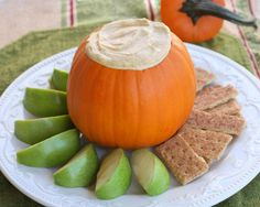 Pumpkin Pie Dip-perfect for fall, must remember this for thanksgiving!  1 (8 ounce) package cream cheese, softened  2 c. powdered sugar  1 c. canned pumpkin  1/2 c. sour cream  1 tsp ground cinnamon  2 tsps pumpkin pie spice  1/2 tsp ground ginger  1 c. frozen whipped cream, thawed  Gingersnap cookies, apples, or cinnamon graham cracker sticks  Directions: beat cream cheese and powdered sugar smooth, mix in pumpkin, sour cream, cinnamon, pumpkin pie spice, ginger, fold in whipped cream
