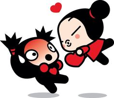 Pucca & Garu. Funny Love. Best cartoon ever. SHE chases him.