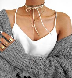 Add a chocker to your necklace layering this spring to stay #ontrend.