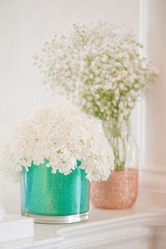 #DIY Glitter Vases for your #Easter brunch.