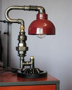 The edison lamp bulb Edison light bulb vintage lamp Iron industrial lamp Industrial desk lamp Steam lamp Loft lamp Plumbing light Pipe lampAsk a question Lampe Edison, Lampe Steampunk, Desk Lamp, Table Lamp, Room Lamp, Luminaire Vintage, Pipe Lighting, Pipe Lamp, Unique Lamps